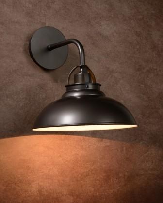 Hamois - nástěnné osvětlení, 60W, E27 (šedá)