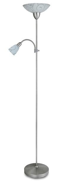 Harmony - Lampa, E27 (hedvábně lesklá chromová/bílý vzor)