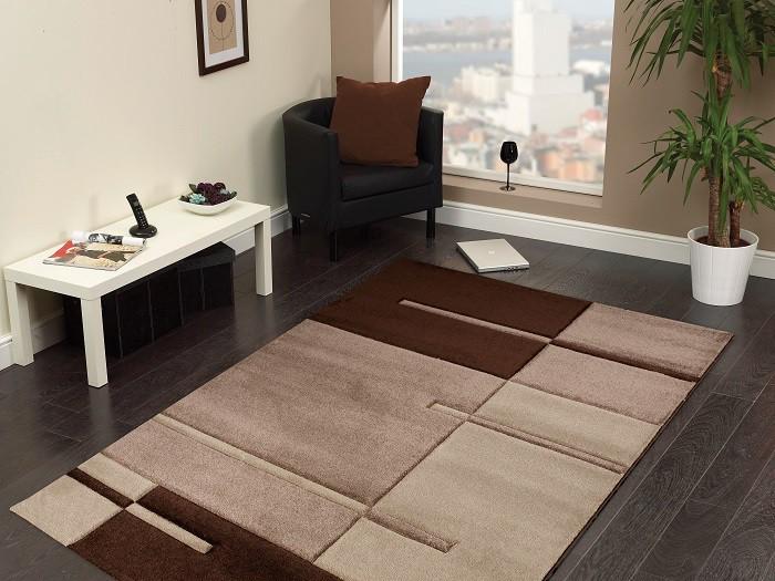 Hawaii - koberec, 170x120cm (100%PP friese, hnědá)