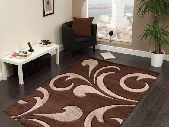 Hawaii - koberec, 290x200cm (100%PP friese, hnědá)