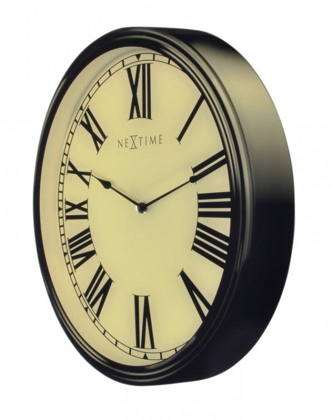 Houdini - hodiny, nástěnné, kulaté (sklo, bílé)