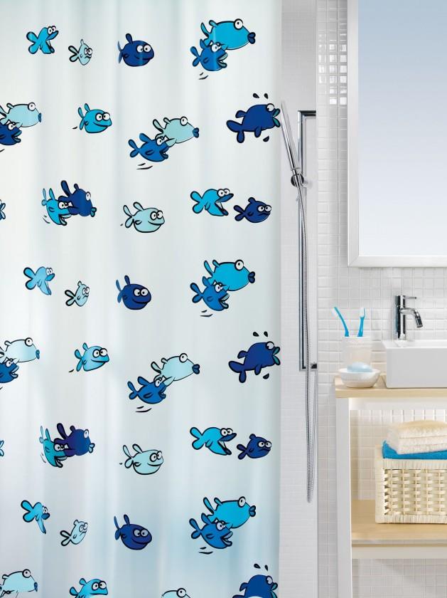 Hugo-Sprchový závěs  180x200 cm(modrá)