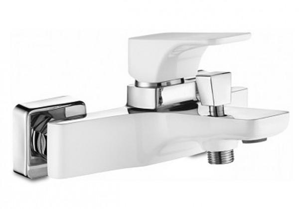 Hyacint - Vanová baterie bez sprchového kompletu (bílá,chrom)