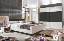 Ilona - Komplet, postel 160 cm (alpská bílá, antracit)