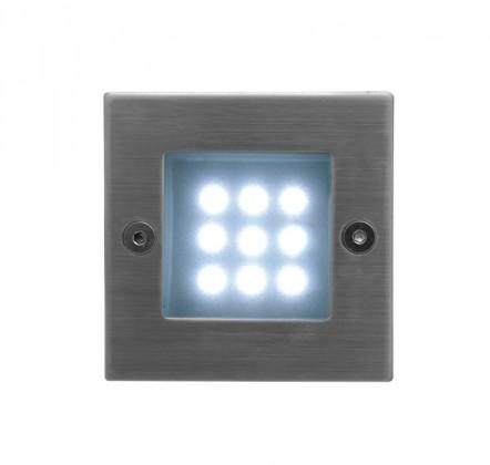 Index - Vestavné venkovní svítidlo, LED, 1W, 16x40x40 (nerez)