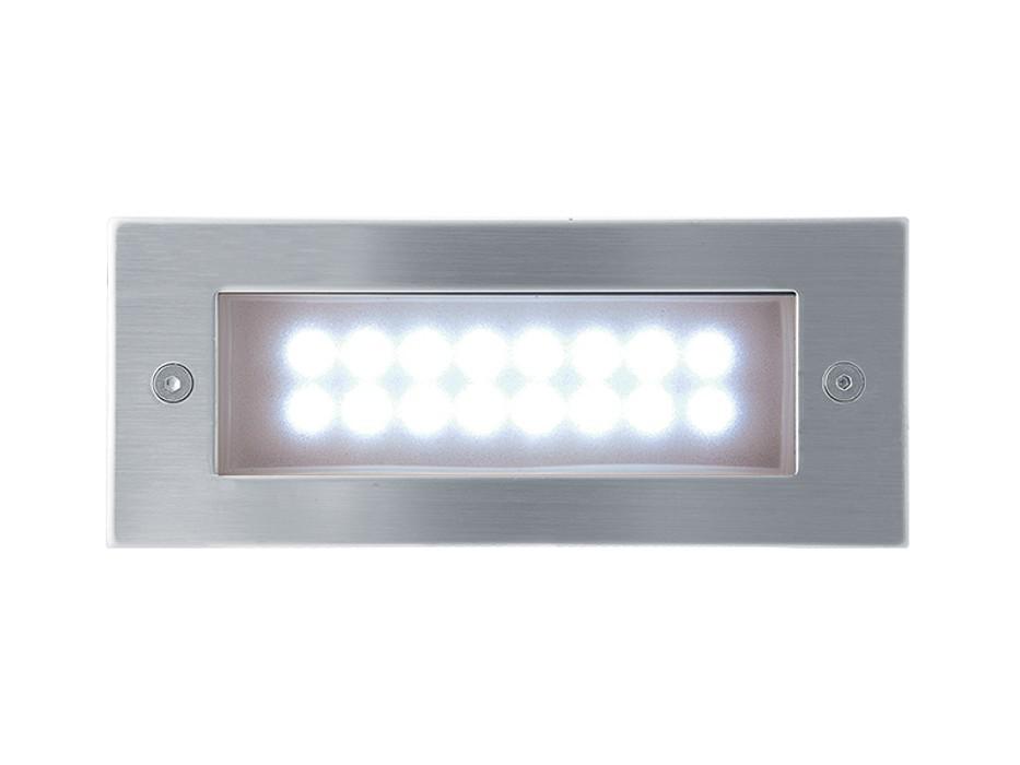 Index - Vestavné venkovní svítidlo, LED, 1W, 37x18x42 (nerez)