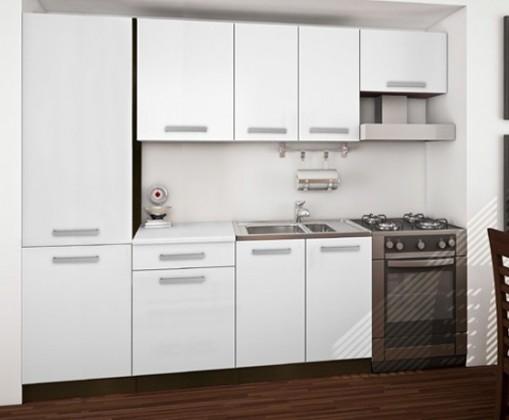 Island 14 - Kuchyňský blok 260 cm (sosna laredo / bílá)