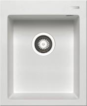 Istros - Granitový dřez 41x50, 1B, bílá