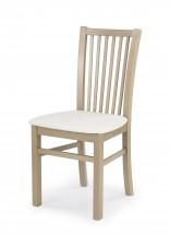 Jacek - Jídelní židle (bílá, dub sonoma)
