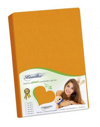 Jersey prostěradlo 100x200 oranžová
