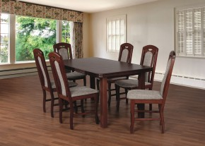 Jídelní set 18 - Stůl 160x90,6x židle (ořech střední/lawa 2)