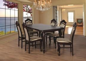 Jídelní set 23 - Stůl 160x90,6x židle (dub soltysiak/lira 4)