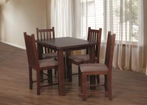 Jídelní set 31 - Stůl 100x70, 4x židle (ořech střední/aston 5)