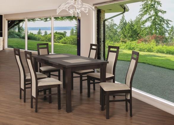 Jídelní set Jídelní set 22 - Stůl 150x80,6x židle (ořech černý/cayenne 5)