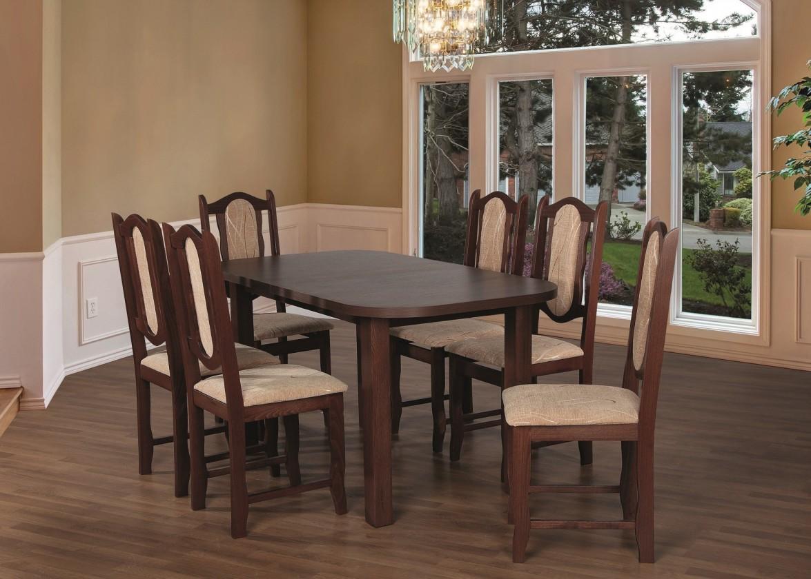 Jídelní set Jídelní set 27 - Stůl 150x80,6x židle (ořech střední/monako 2A)