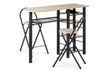 Jídelní set Petit - 2x židle, 1x stůl (dub, černá)