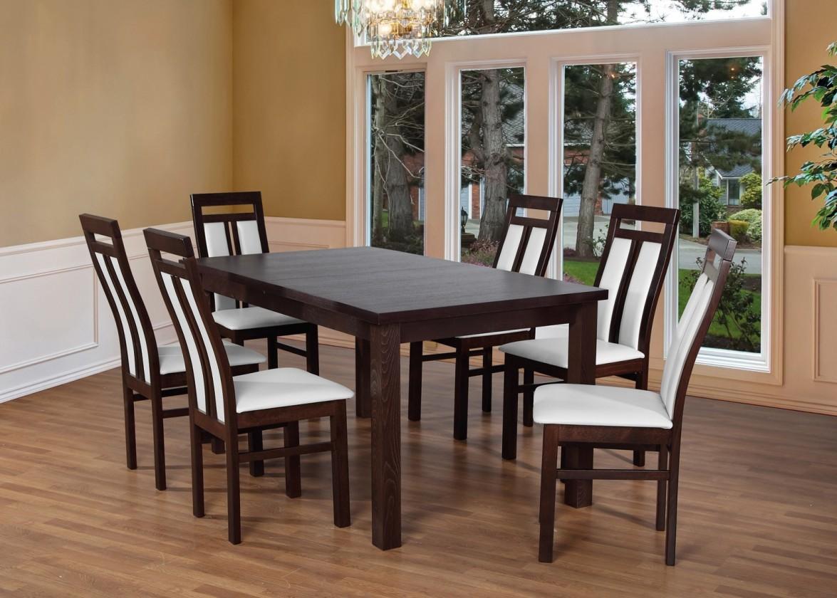 Jídelní set Set 7 - 6x židle,1x stůl,rozklad (wenge/madryt 120)