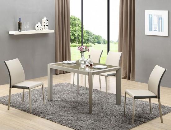 Jídelní stůl Arabis  (sklo,světle hnědá,béžová)