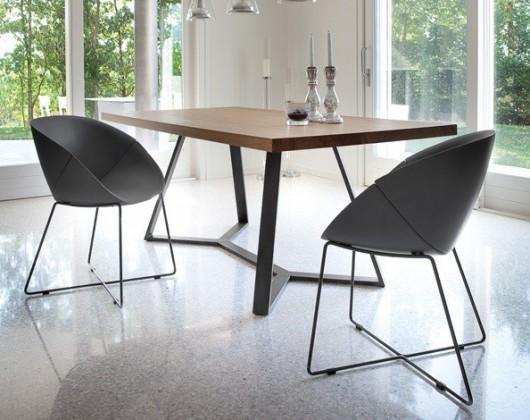 Jídelní stůl Archie - 240 cm (kostra antracit/deska ořech)