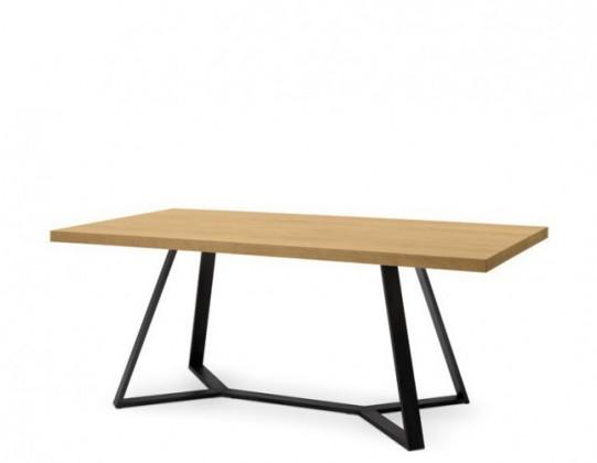 Jídelní stůl Archie - Jídelní stůl (lak antracit, dýha dub)