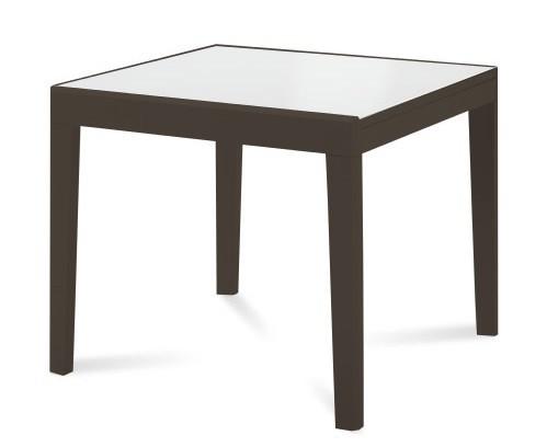 Jídelní stůl Asso 90 - Jídelní stůl (extra bílá, wenge)