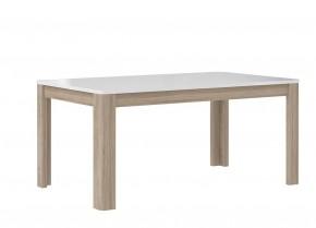 Jídelní stůl Attention FLOT16 (bílý/dub sonoma/bílý lesk)