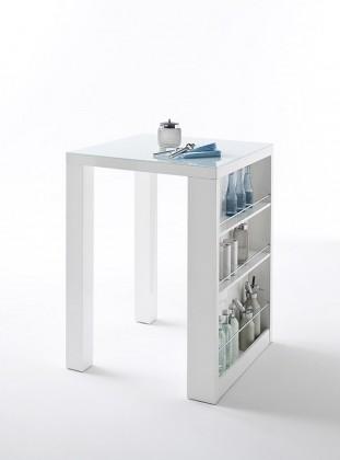 Jídelní stůl Barový stolek Clero (bílá)