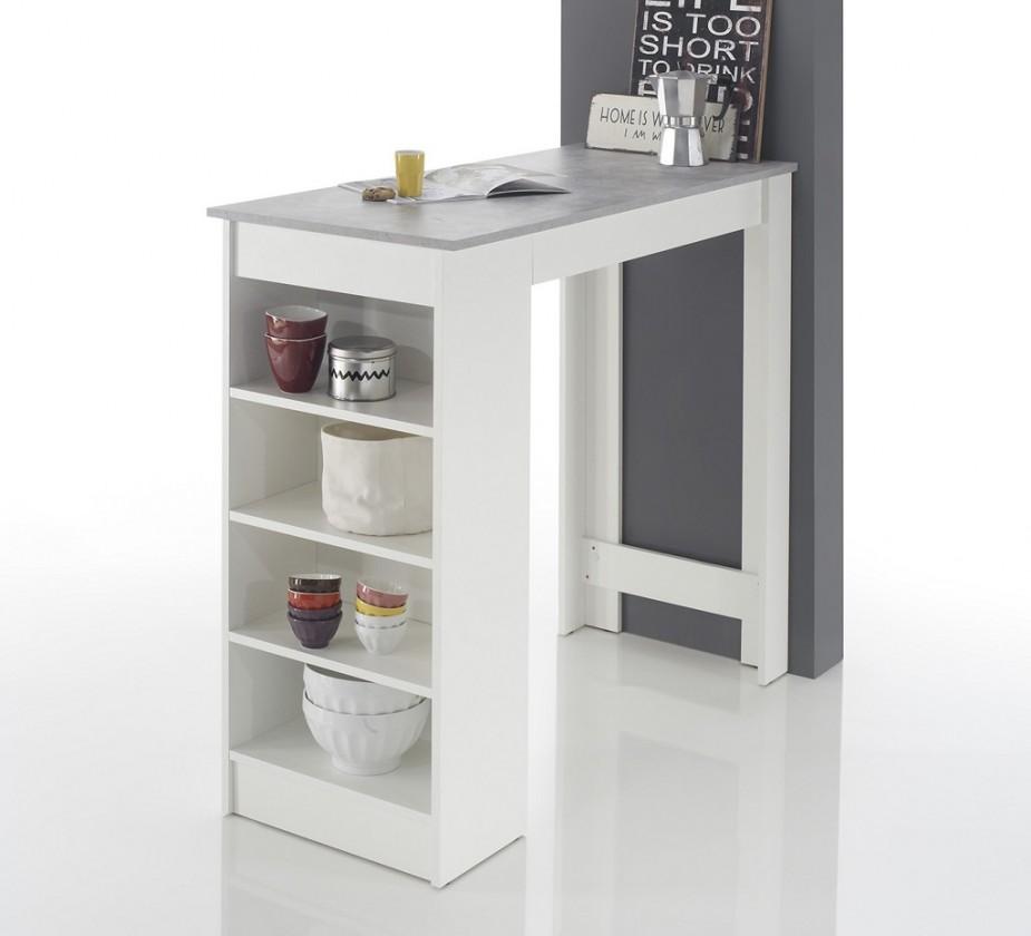 Jídelní stůl Barový stolek Mariano (bílá, šedá)