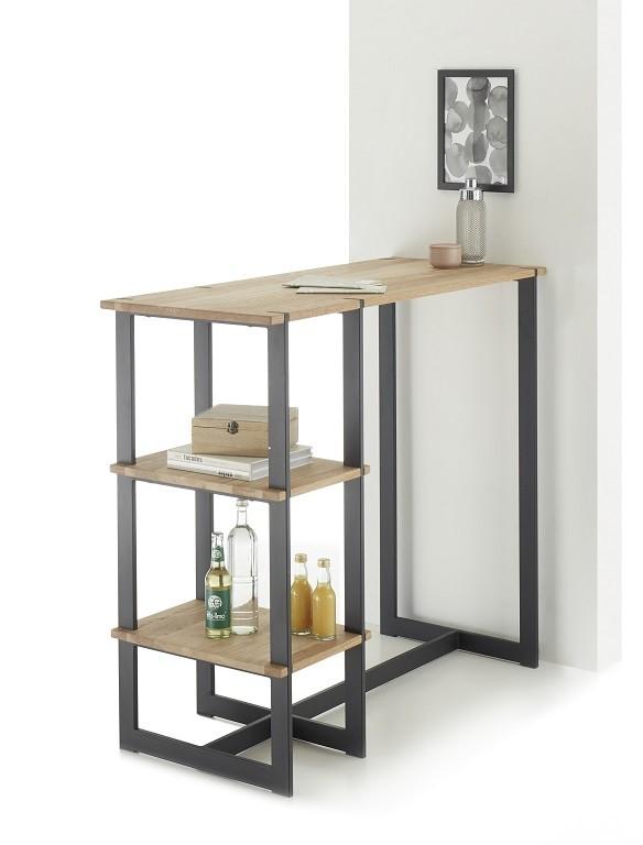 Jídelní stůl Barový stolek Ponce (dub, černá)