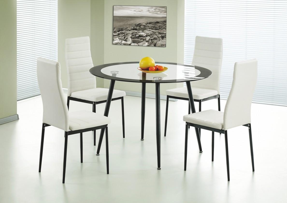 Jídelní stůl Blake (sklo - transparetní, černý okraj / černá)