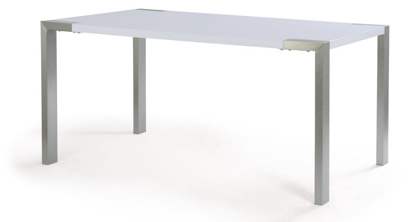 Jídelní stůl Bobby(nerez/mat bílý)