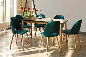 Jídelní stůl Bryne rozkládací (černá, dub sonoma)