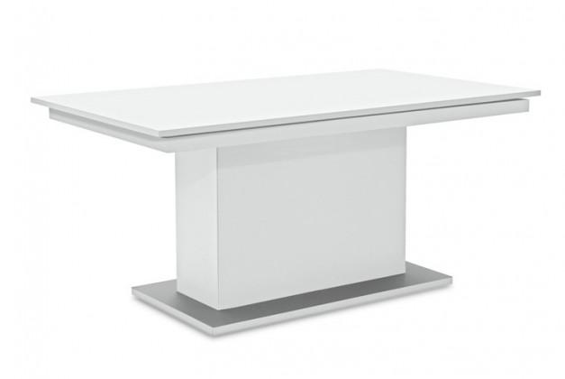 Jídelní stůl Deck 160 cm (deska bílá/kostra postavec bílá)