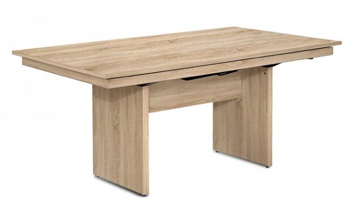 Jídelní stůl Deck 160 cm (deska dub/kostra panely dub)