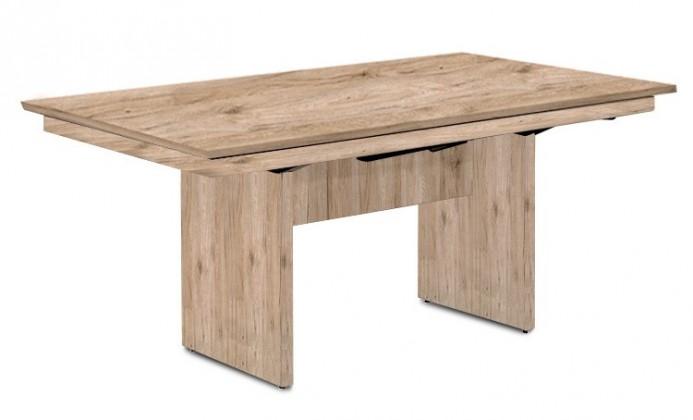 Jídelní stůl Deck 160 cm (deska pískový dub/kostra panely pískový dub)