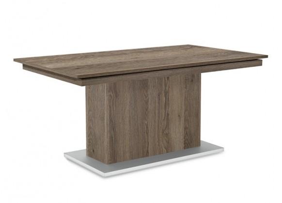 Jídelní stůl Deck 160 cm (deska tmavý dub/kostra postavec tmavý dub)