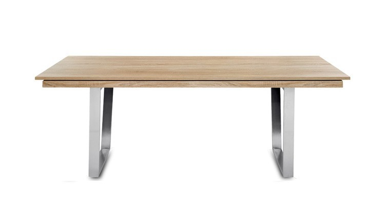Jídelní stůl Deck 160 cm, rozkládací  (deska dub/kostra ocel)