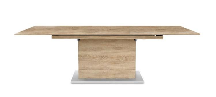 Jídelní stůl Deck 160 cm, rozkládací  (deska dub/kostra postavec dub)