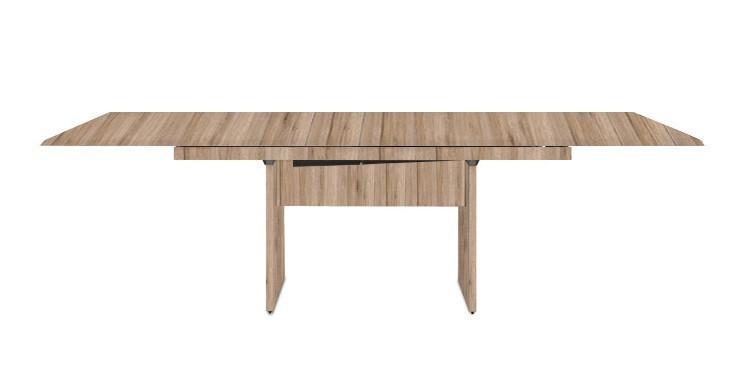 Jídelní stůl Deck 160 cm, rozkládací  (deska pískový dub/pískový dub)