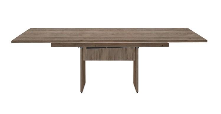 Jídelní stůl Deck 160 cm, rozkládací  (tmavý dub/kostra panely tmavý dub)
