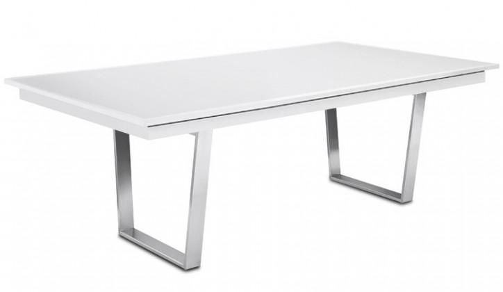 Jídelní stůl Deck 190 cm (deska bílá/kostra ocel)
