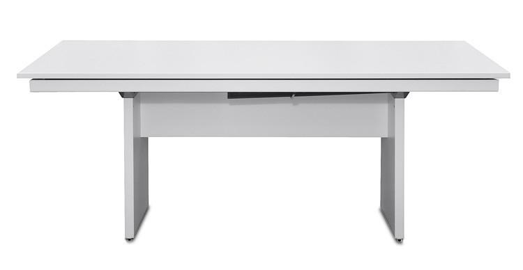 Jídelní stůl Deck 190 cm (deska bílá/kostra panely bílá)