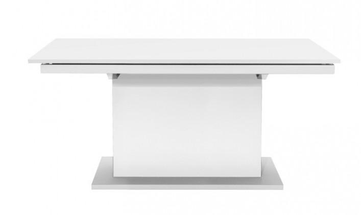 Jídelní stůl Deck 190 cm (deska bílá/kostra postavec bílá)