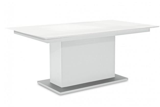 Jídelní stůl Deck 190 cm (deska bílá lesk/kostra postavec bílá)