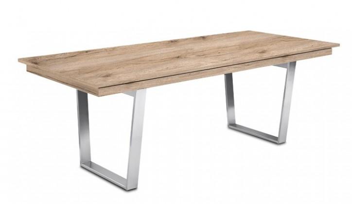 Jídelní stůl Deck 190 cm (deska pískový dub/kostra ocel)