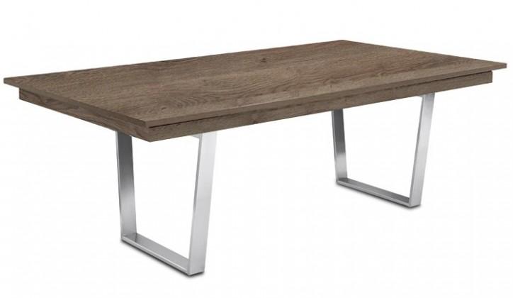 Jídelní stůl Deck 190 cm (deska tmavý dub/kostra ocel)