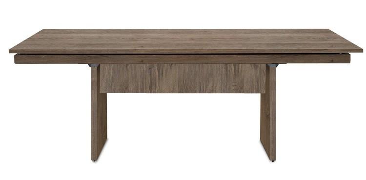 Jídelní stůl Deck 190 cm (deska tmavý dub/kostra panely tmavý dub)