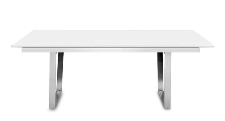 Jídelní stůl Deck 190 cm, rozkládací  (deska bílá/kostra ocel)