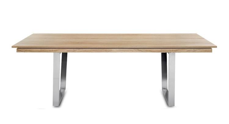 Jídelní stůl Deck 190 cm, rozkládací  (deska dub/kostra ocel)