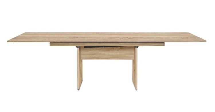 Jídelní stůl Deck 190 cm, rozkládací  (deska dub/kostra panely dub)